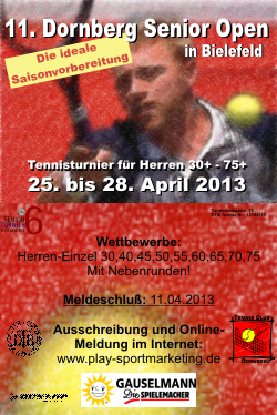 Dornberg Senior Open 2013