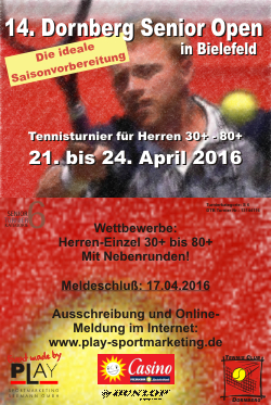 Dornberg Senior Open 2016