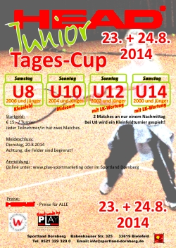 HEAD Junior Tages Cup im August 2014