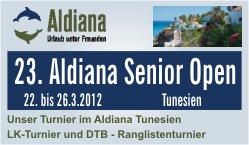 Aldiana Senior Open 2012, Tunesien