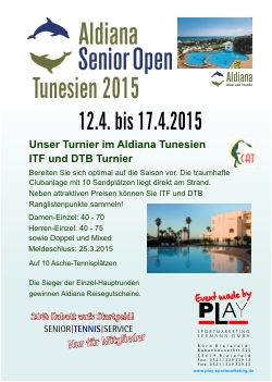 Aldiana Senior Open Tunesien, 2015