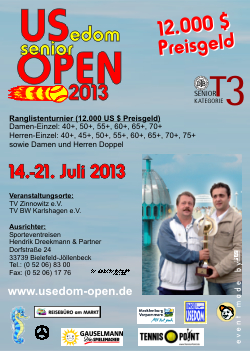 USedom senior OPEN 2013