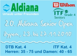 20. Aldiana Senior Open, Zypern 2010