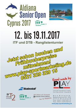 Aldiana Senior Open, Zypern 2017