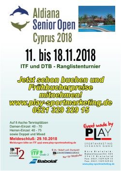 Aldiana Zypern Senior Open November 2018