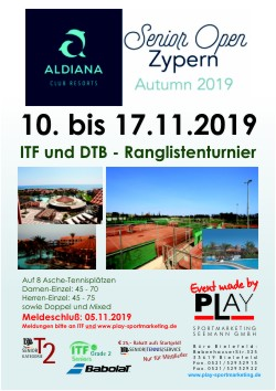 Aldiana Zypern Senior Open 2019